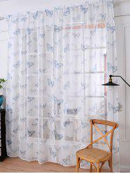 Butterfly Transparent Window Curtain