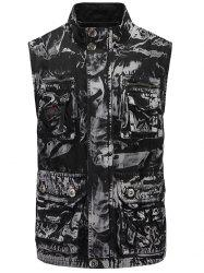 Zipper Up Pockets Cargo Vest