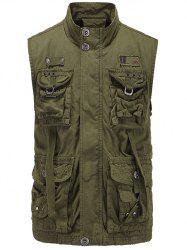Zip Up Multi Pockets Cargo Vest