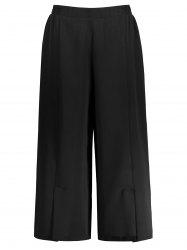 Plus Size Chiffon Wide Leg Pants
