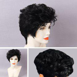 Short Layered Shaggy Curly Pixie Human Hair Wig
