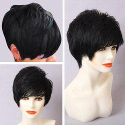 Short Layered Inclined Bang Straight Pixie Human Hair Wig