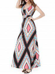 Empire Waist Argyle Maxi Dress
