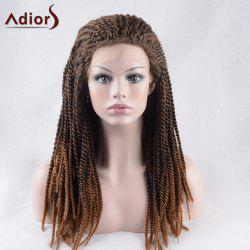 Adiors Long Twist Braid Lace Front Thick Synthetic Wig