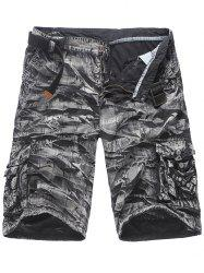 Pockets Zip Fly Plaid Cargo Shorts