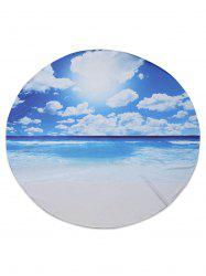 Seascape Printed Chiffon Beach Throw - BLUE