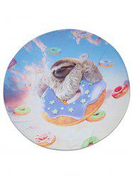 Donut Sloth Animal Imprimé Beach Throw