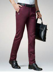Straight Leg Button Embellished Casual Pants