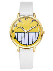 Cartoon Emoticon Smile Face Number Watch