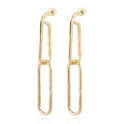 Alloy Geometric Link Chain Earrings