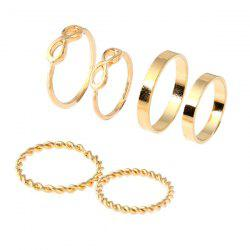 Alloy Circle Infinite Ring Set - Or
