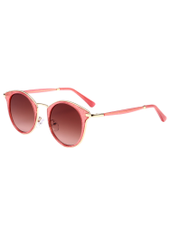 Cat Eye Ombre Metal Frame Wrap Sunglasses