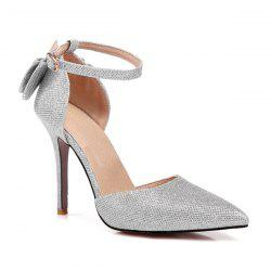 Bow Glitter Two Piece Pumps