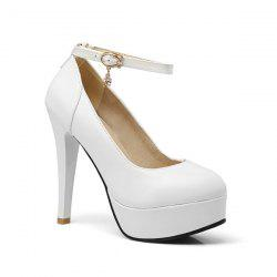 Ankle Strap Cone Heel Pumps