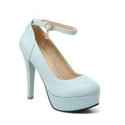 Ankle Strap Cone Heel Pumps -