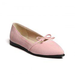Pointed Toe Bowknot Flat Shoes