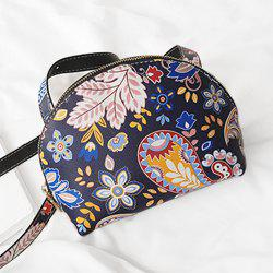 Zip Around Paisley Print Crossbody Bag