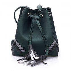 Tassel Cross Body Bucket Bag