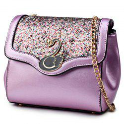 Swan Sequin Panel Crossbody Bag