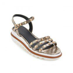 Metal Rivets Strappy Sandals