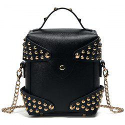 Studded Cross Body Bag with Top Handle