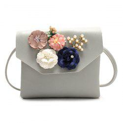 Flowers Faux Leather Crossbody Bag