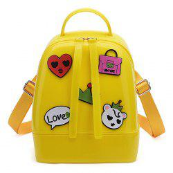 Top Handle Patches Jelly Backpack