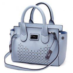 Faux Leather Hollow Out Handbag