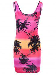 Coconut Palm Slinky Dress