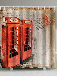 Telephone Booth Fabric Bathroom Shower Curtain