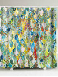 Art Fish Scale Fabric Unique Shower Curtain