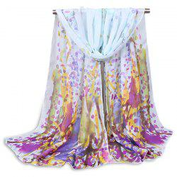 Impressionist Painting Forest Shawl Scarf