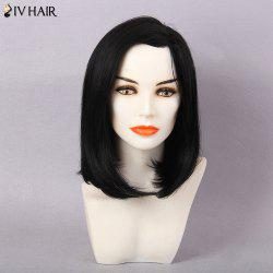 Siv Hair Medium Side Part Straight Bob Human Hair Wig