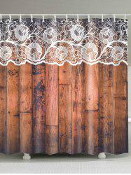 Eco-Friendly Lace Woody Door Shower Curtain