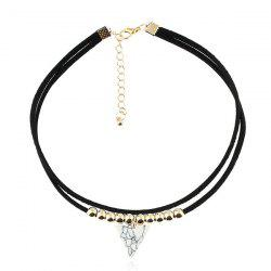 Triangle Alloy Beads Choker Necklace