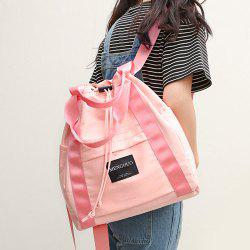Top Handle Drawstring Canvas Backpack