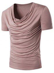 Slouchy Ruched Scoop Neck T-Shirt