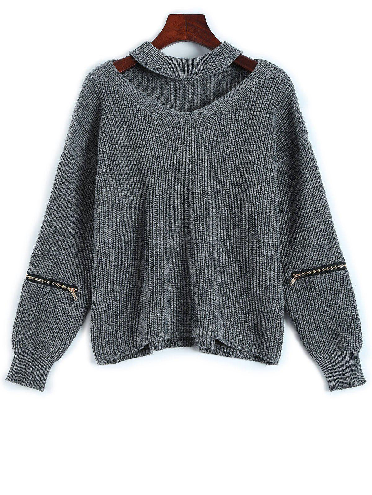 Trendy Chunky Choker Sweater