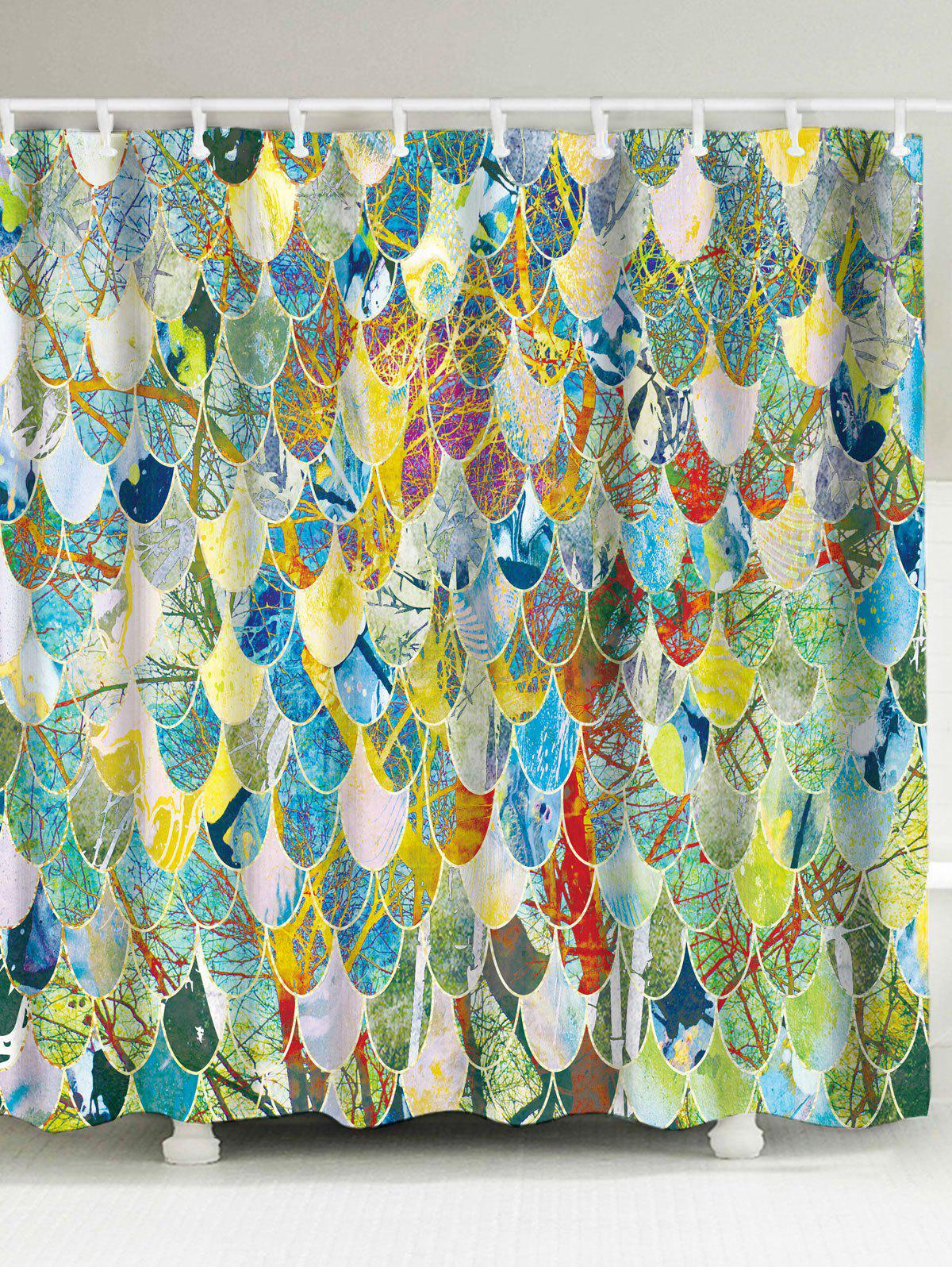 Colormix W59inch L71inch Art Fish Scale Fabric Unique