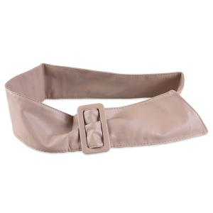 ArtificialLeather Adjustable Wide Waist Belt