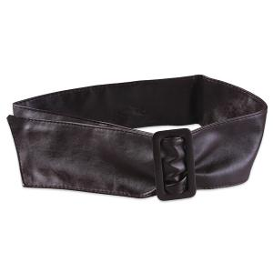 ArtificialLeather Adjustable Wide Waist Belt - Coffee - M