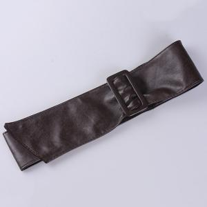 ArtificialLeather Adjustable Wide Waist Belt -
