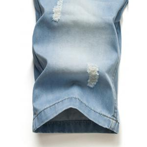 Hot Sale Ripped Loose Denim Shorts - BLUE 42