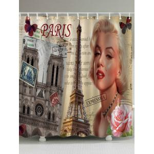 Water Repellent Marilyn Monroe Shower Curtain - Colormix - W71inch * L79inch