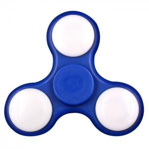 Rotating Fidget Finger Spinner with Color Changing LED Lights - CERULEAN