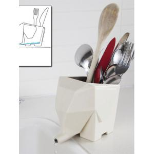 Kitchen Tool Plastic Multifunction Elephant Shape Cutlery Drainer -