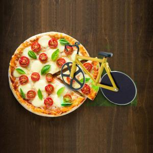 Stainless Steel Bicycle Design Pizza Cutter