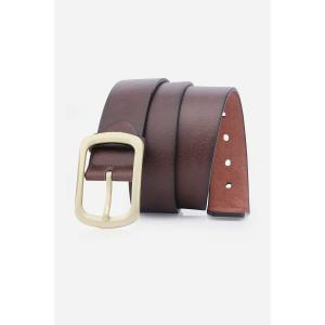 Artificial Leather Retro Rectangular Pin Buckle Belt
