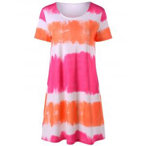 Tie Dye Mini A Line T-Shirt Dress