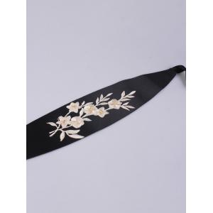 Chinoiserie Banded Retro Blossom Embroidered Corset Belt -